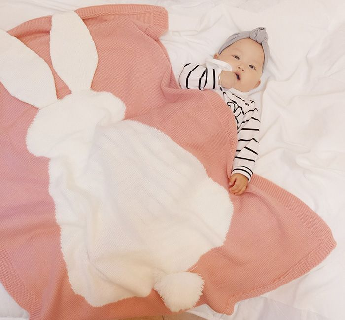 Baby Rabbit Knitted Soft Bed Blanket