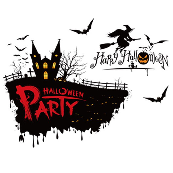 Removable Halloween Party Decor Wall Sticker
