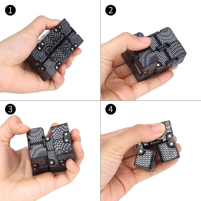 Anti-stress Toy EDC Plastic Printed Infinity Cube