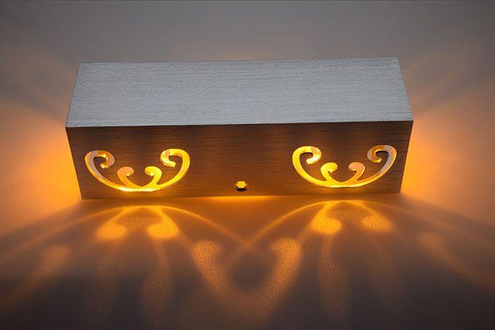 Cuboid Shape Modern Aluminum LED Wall Light