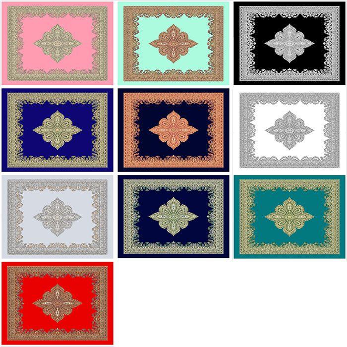 Chiffon Vintage Rhombus Print Square Scarf