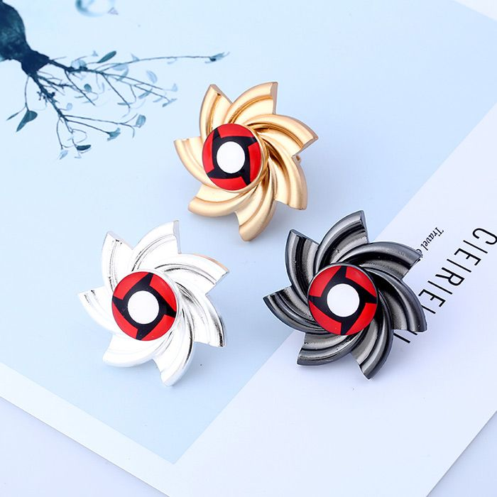 Pinwheel Shape Fidget Spinner Adjustable Ring