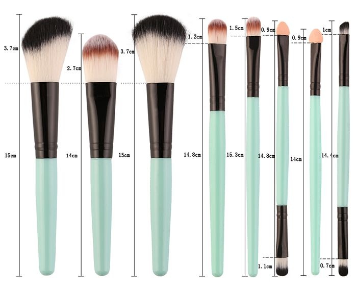 18Pcs Facial Makeup Brushes Kit