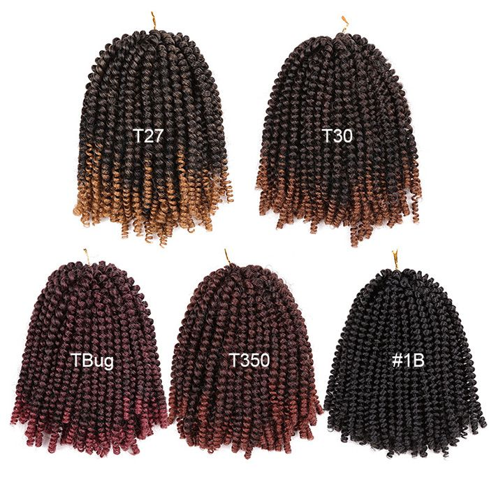 Short Shaggy Afro Spring Twist Braids Hair Extensions