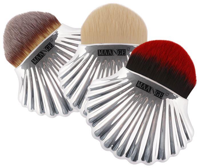 Plated Shell Design Fiber Hair Foundation Brush