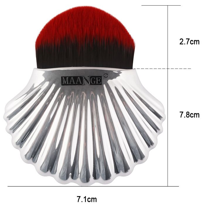 Plated Shell Design Fiber Hair Foundation Brush