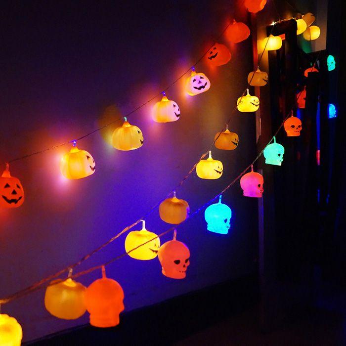 Skull Shape Halloween Party LED String Lights