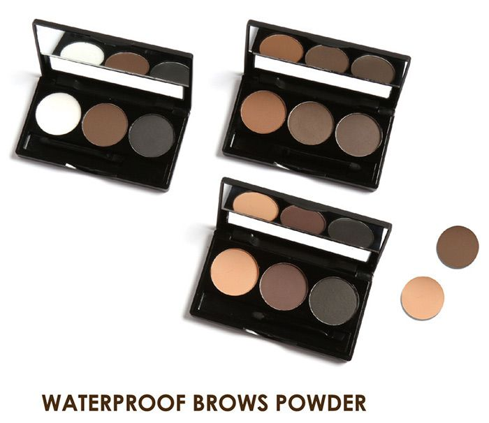 3 Colors Anti Sweat Waterproof Brows Powder Kit With Brush