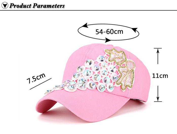 Rhinestone Grape Design Patchwork Baseball Hat