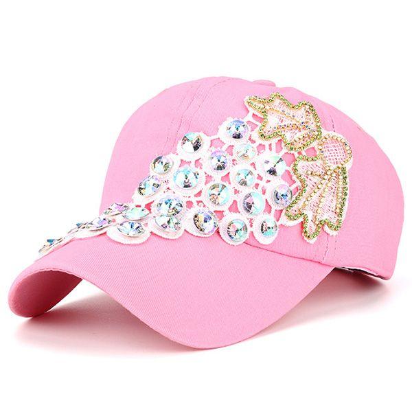 Rhinestone Grape Design Patchwork Baseball Hat