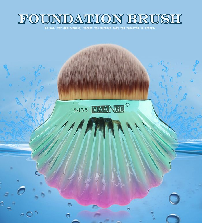 Ocean Shell Design Two Tone Foundation Brush