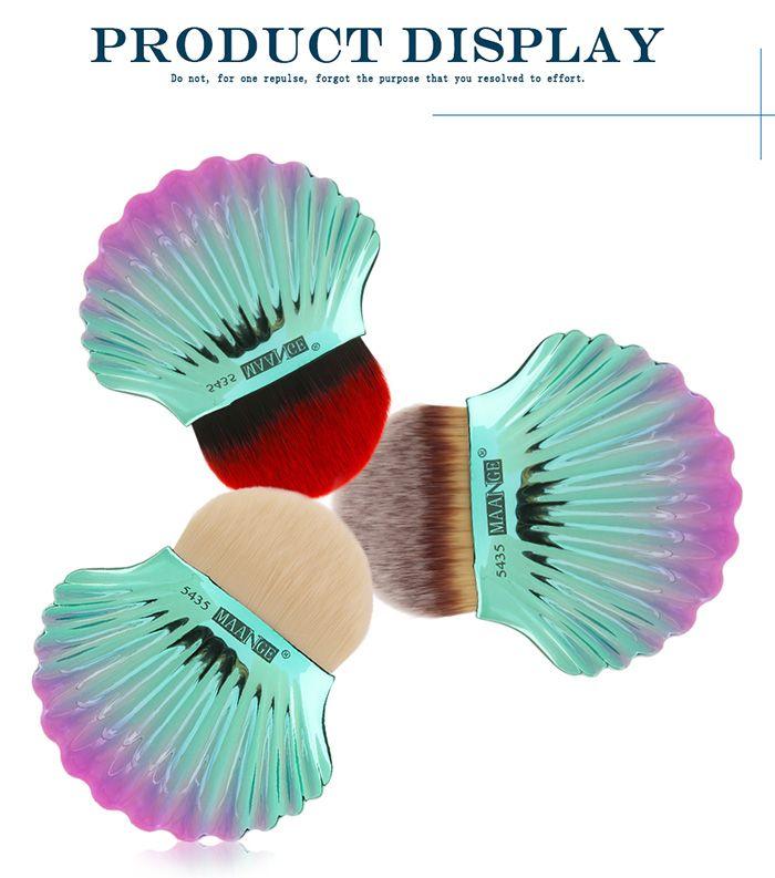 Ocean Shell Design Two Tone Foundation Brush
