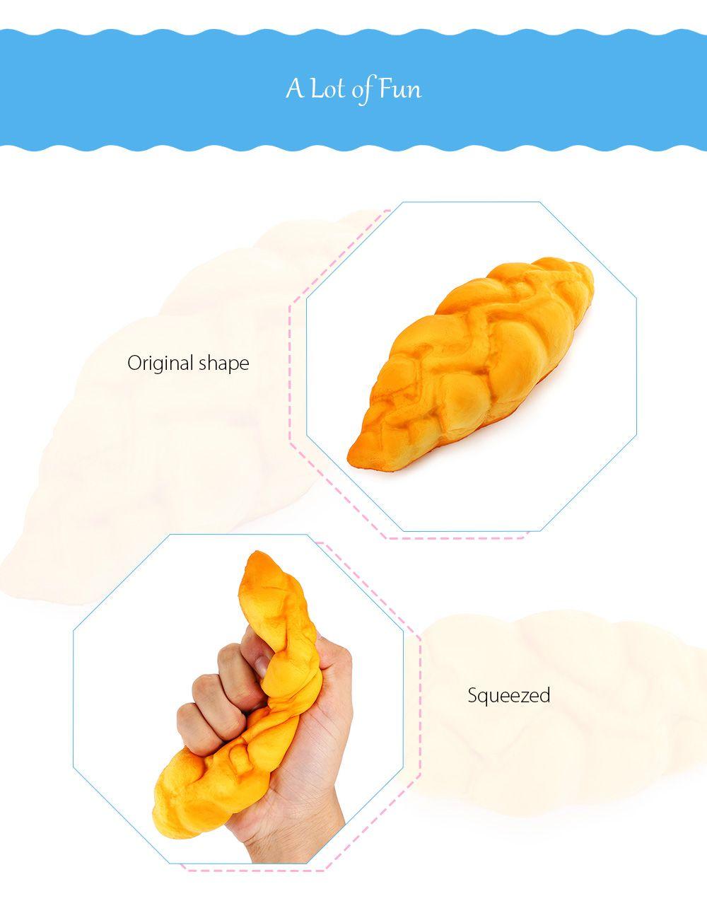 Squishy Toy Decorative PU Simulation Bread Model