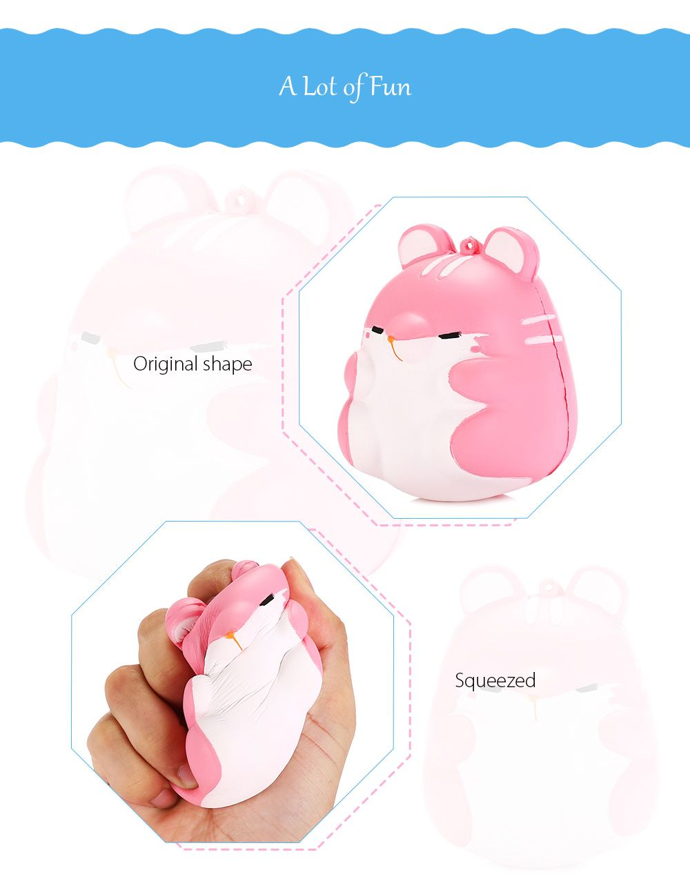 Simulation Animal Hamster Slow Rising Squishy Toy, PINK in Squishy Toys DressLily.com
