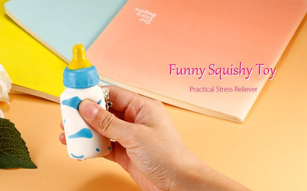 Decompression Toy Milk Cow Print Feeding Bottle Squishy Toy