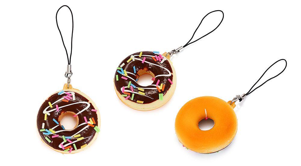 Random Simulated Doughnut Slow Rising Squishy Toy