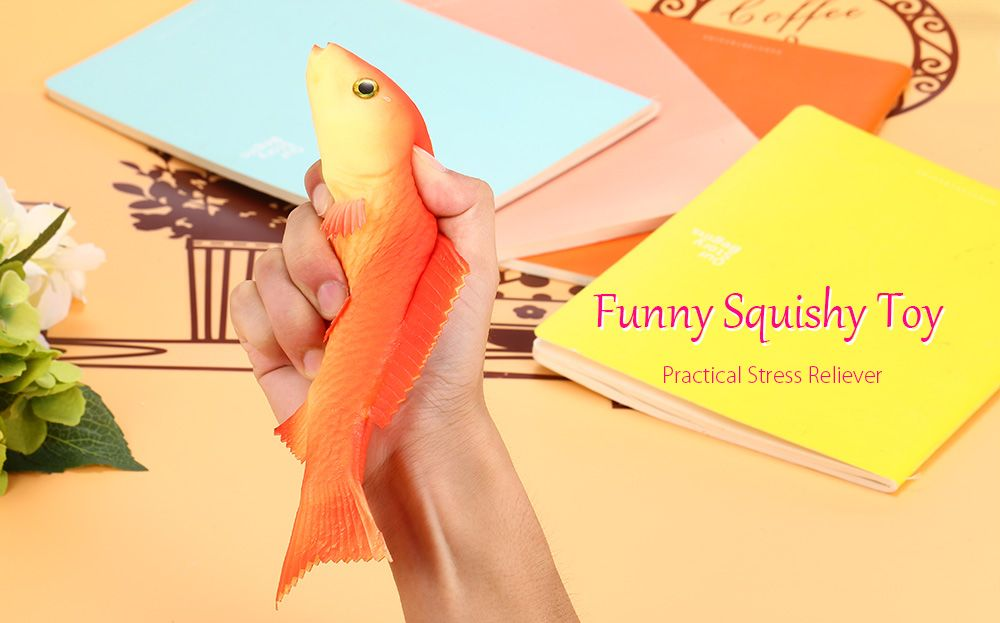 PU Simulation Carp Model Squishy Toy