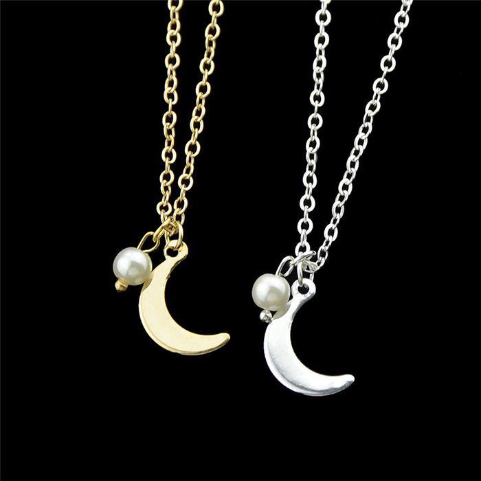 Moon Embellished Pendant Necklace