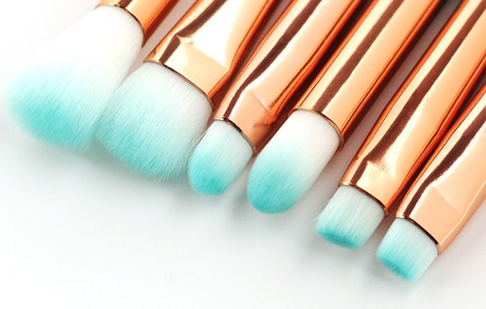 6Pcs Eye Ombre Mermaid Tail Handle Makeup Brushes