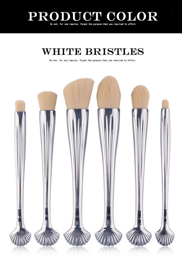 6Pcs Multipurpose Plating Shell Facial Makeup Brushes