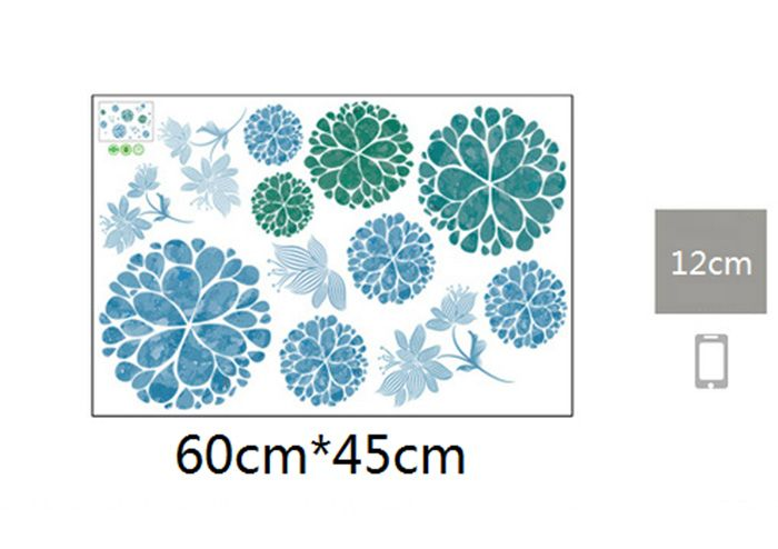 Floral Removable Wall Art Stickers For Living Room