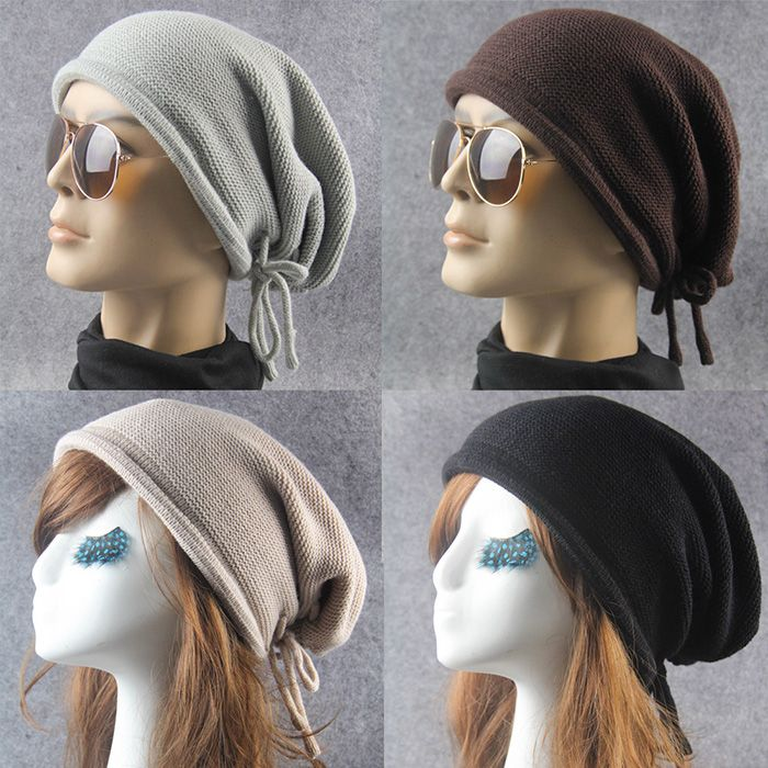 Lace Up Knitting Warm Beanie Hat