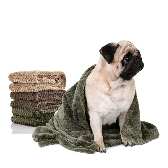 Pet Dog Pineapple Plaid Keep Warm Throw Blanket