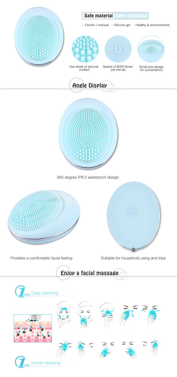 Silicone Deep Pore Skin Cleansing Face Massage Instrument