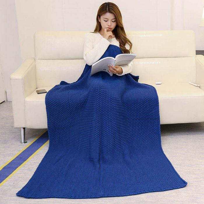 Handmade Knit Bedding Sofa Throw Blanket