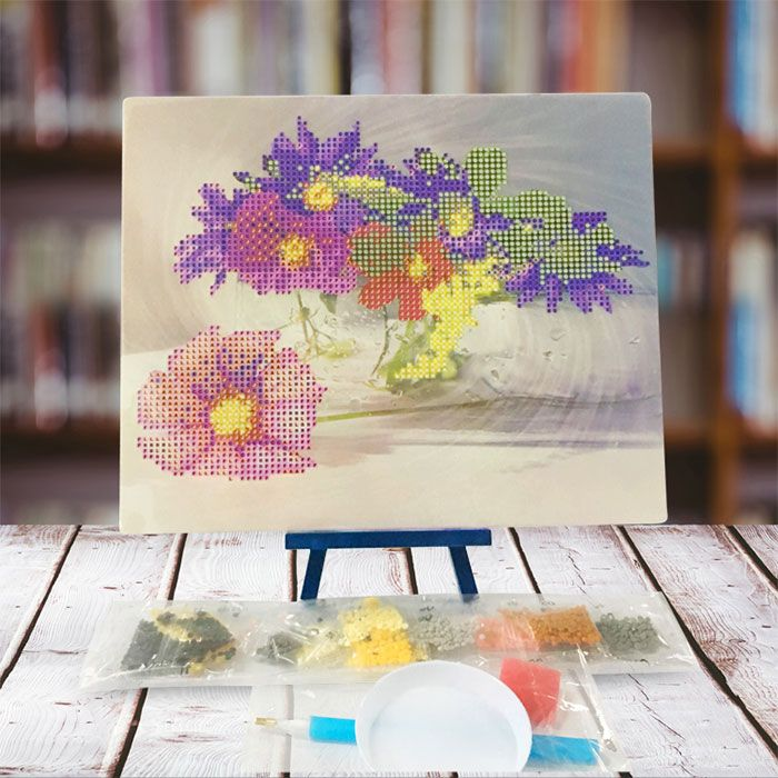 Blooming Flowers DIY 5D Resin Diamond Paperboard Painting