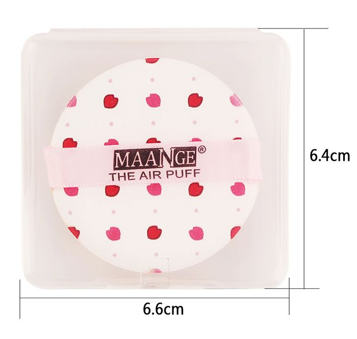 Different Pattern Round Portable Powder Puff with Box