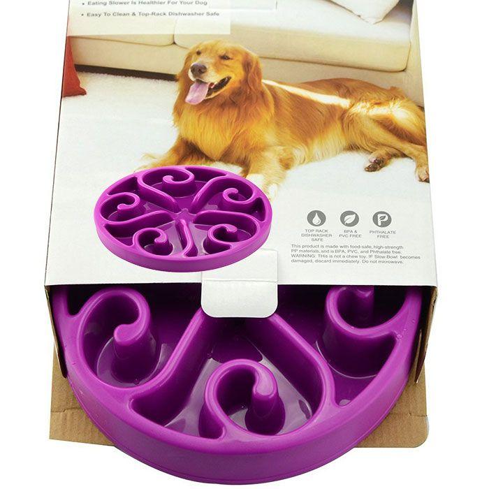 Slow Food Pet Feeder Anti Choke Dog Bowl
