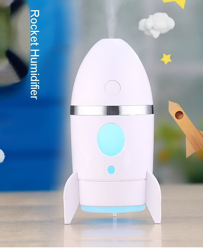 Rocket Humidifier With Color Changing LED Night Light