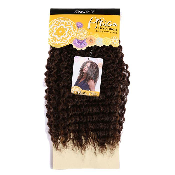 Long Shaggy Deep Wave Heat Resistant Fiber Hair Wefts