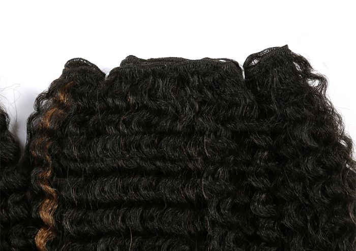 Short Colormix Deep Wave Synthetic Hair Weaves