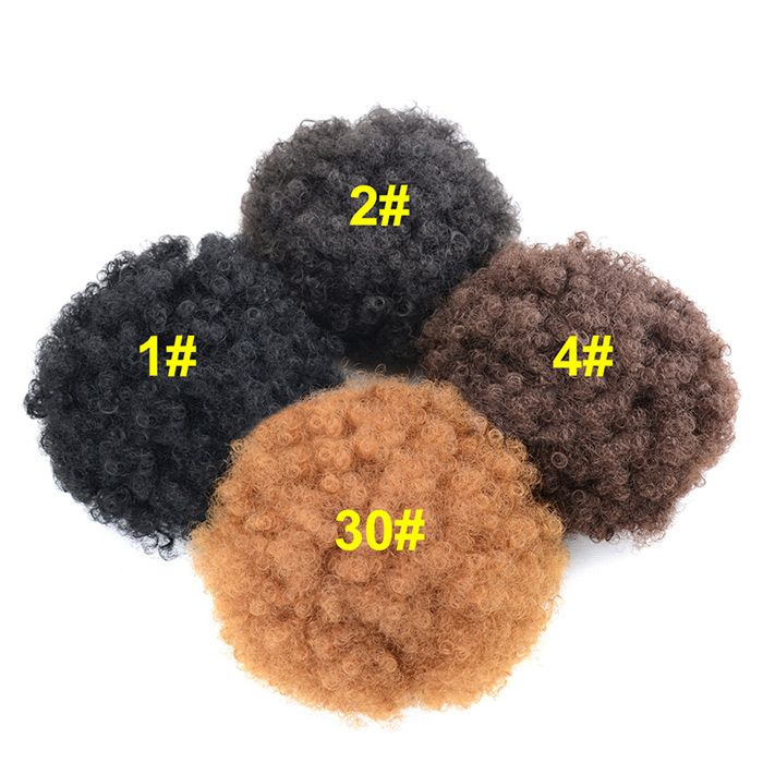 Large Shaggy Afro Curly Heat Resistant Synthetic Bun Chignon