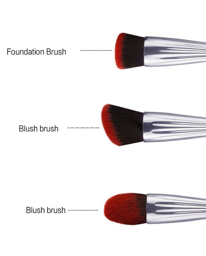 3Pcs Face Multifunctional Makeup Brushes Set