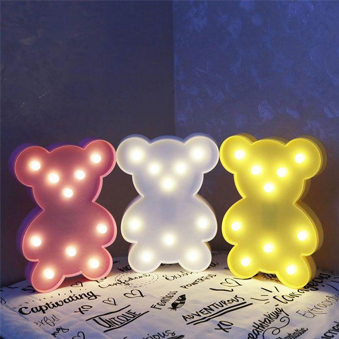 Little Bear Shape Decoration Atmosphere Lamp