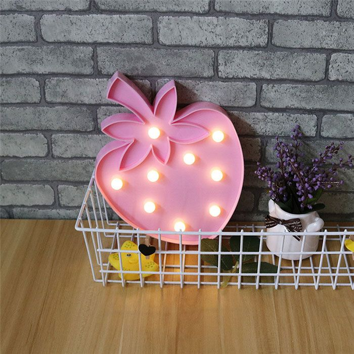 Exquisite Strawberry Shape Decoration Night Light