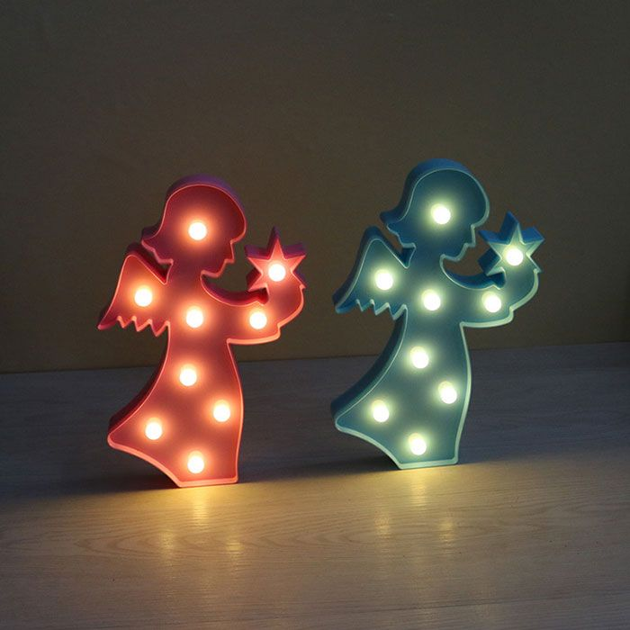 Exquisite Angel Shape Decoration Night Light