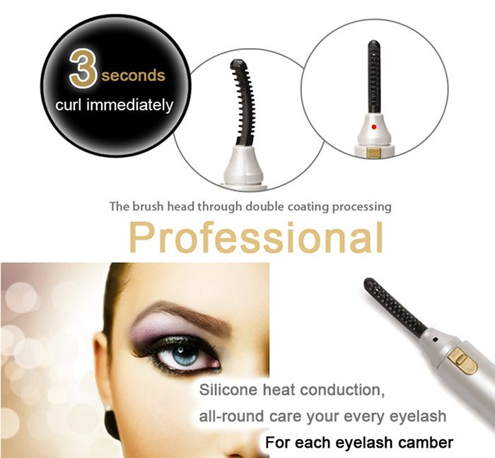 Electrical Cosmetic Eyelash Curler Brush