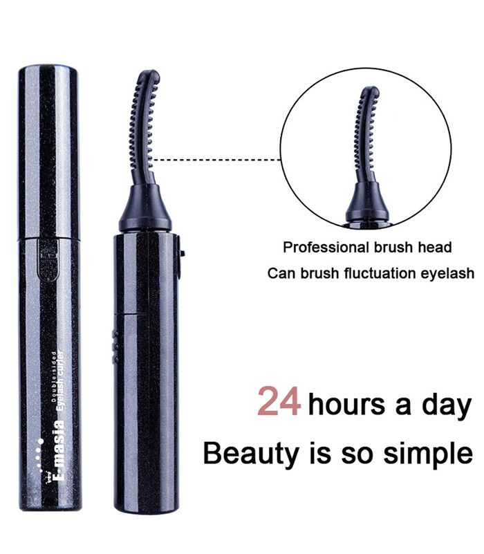 Battery Power Cosmetic Eyelash Curler Brush