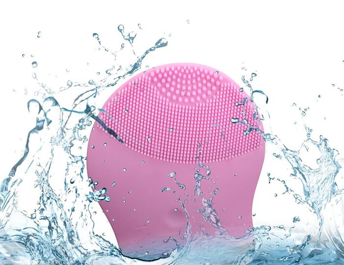 Electric Massage Silicone Facial Cleansing Brush Device