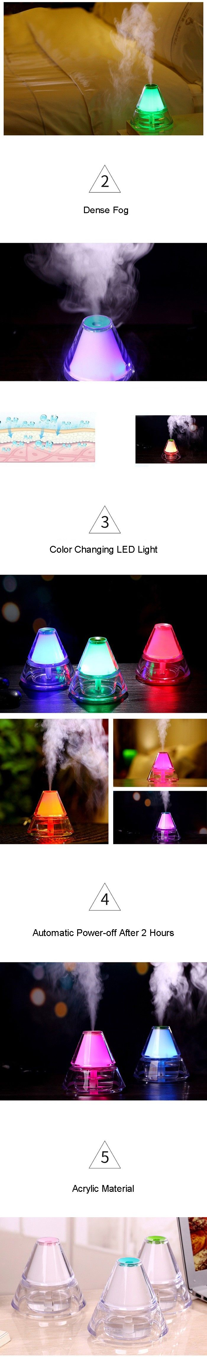Iceberg Humidifier With Color Changing LED Night Light