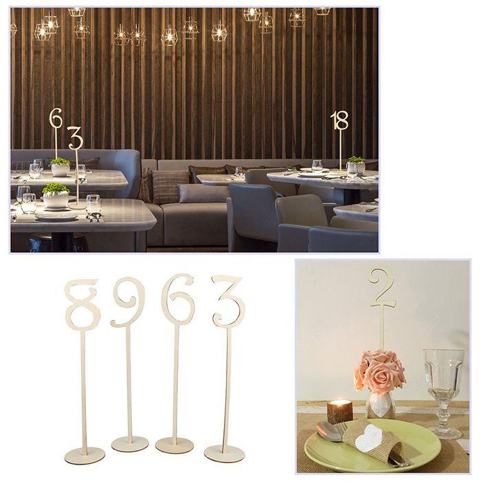 DIY Wedding Birthday Bar Wooden Table Numbers