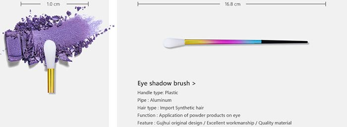 8 Pieces Colorful Ombre Makeup Brushes Suit