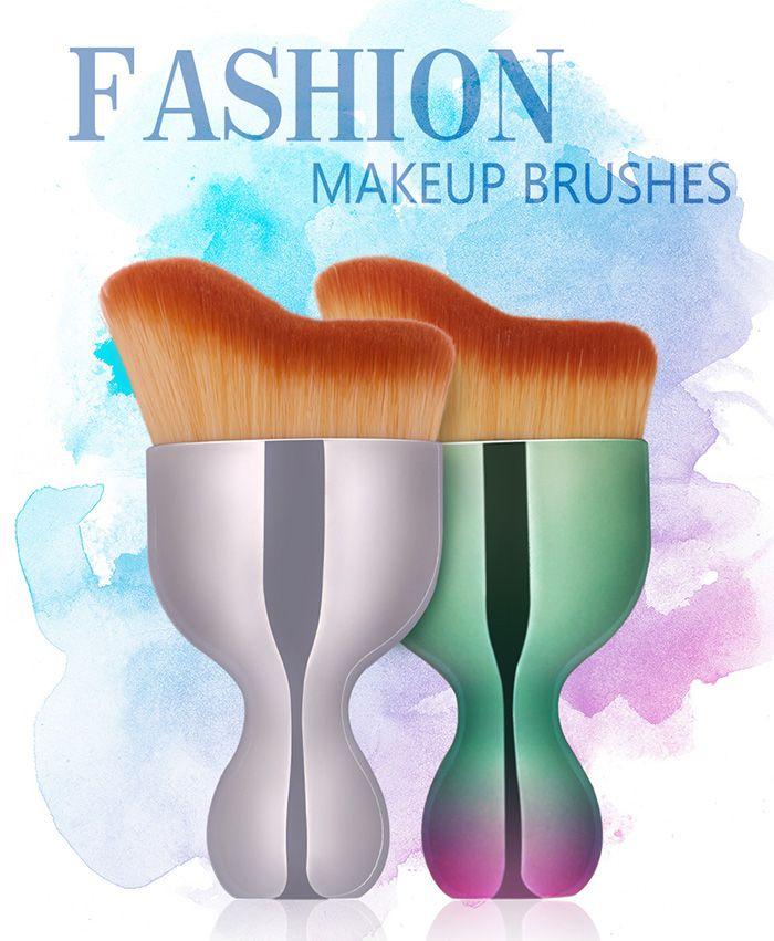 Oblate Wine Glass Shape Makeup Foundation Brush