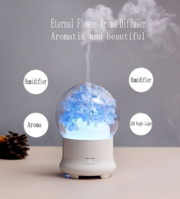 Eternal Flower Air Humidifier Aroma Ultrasonic Mist Maker