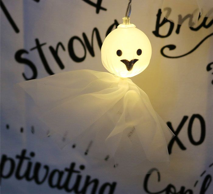 Cartoon Ghost Shape String Lights For Halloween Party Decor