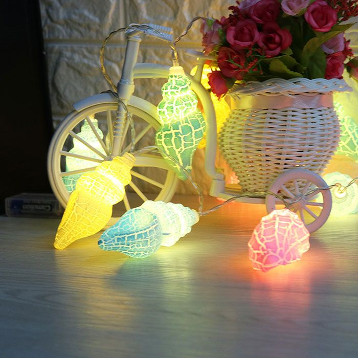 Holiday Decoration LED Conch Shape String Lights
